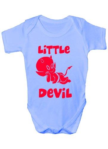 Petit Démon ~ Funny Body ~ Cadeau bébé fille/garçon Sans manches pour bébés - Bleu - 1 mois