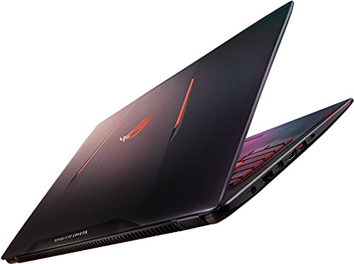 Asus ROG GL502VM-FY187T Portatile, Display 15.6' Full HD, Intel Core i7-7700HQ, RAM 16 GB, Scheda Video nVIDIA GTX1060M 6 GB DDR5, HDD 1 TB e 128 GB SSD, Titanium Gold