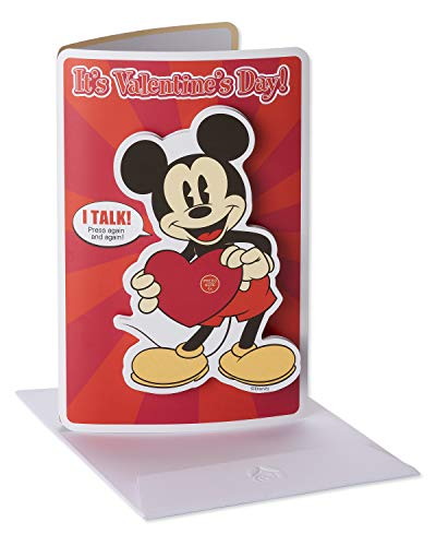 American Greetings Valentines Day Card for Kids with Audio (Mickey Mouse)