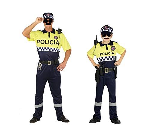 Disfraz de Polica Local. Compuesto de Camiseta, pantaln, gorra y cinturn. Varias tallas de nio y Adulto. (Talla 5-6 nio)