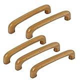 sourcingmap Holzgriffe für Schranktüren, Schubladen und Kommoden, 96mm Lochabstand, 5 Stück