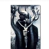 YXFAN Satan Jesus ChristusMalerei Poster Wandbild