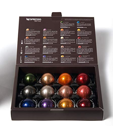 Nespresso Vertuoline Sample Pack, 12 Count Vertuo Espresso & Coffee Assorted Nespresso Pod Sampler (1)
