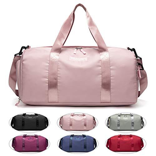 FEDUAN Sporttasche rosa pink Reisetasche modisch wasserdicht mit Schuhfach Nassfach für Damen und Herren Yoga Pilates Strand Freizeit Sauna Gym-Tasche...