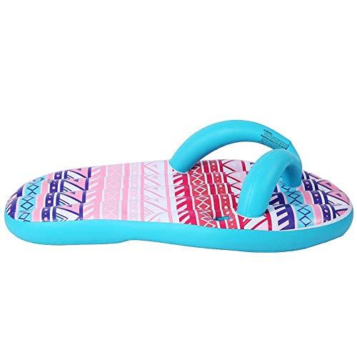 MOZUSA Piscina PVC Piscina Flotador Inflable con Chanclas Flotante Amortiguador Cama reclinable Aire Cama de un Adulto Agua Libre Juguete de la Playa (Color: Azul, Tamaño: 160x80cm)