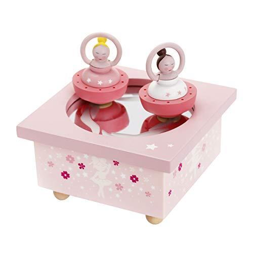 Trousselier - Ballerinas - Tanzende Musikbox - Spieluhr - Ideales Geburtsgeschenk - 2 abnehmbare Figuren - Einfache Bedienung - Musik Mondscheinsonate von Beethoven - Farbe rosa