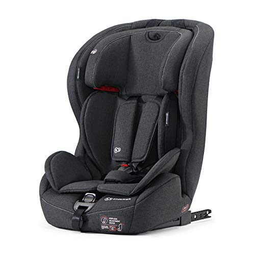 Kinderkraft Siège Auto Isofix SAFETY-FIX, Groupe 1/2/3, De 9 à 36 kg, Noir
