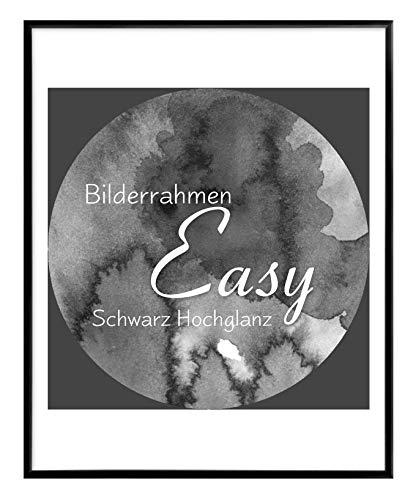 BIRAPA Bilderrahmen Easy 50x75 cm aus Kunststoff in Schwarz Hochglanz - Farbe und Größe wählbar