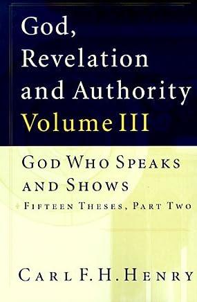 God, Revelation, and Authority