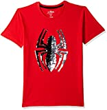 Spiderman By Kidsville Boy's Plain Regular fit T-Shirt (STY-19-20-002279 Red 11-12 Years)