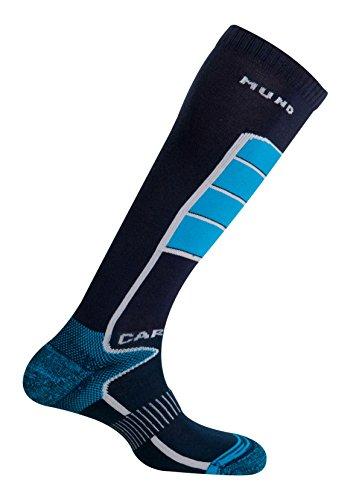 Mund Socks Carving Socken ohne Nähte und mit hoher Dichte am Schienbein (Navy, EU 34-37)