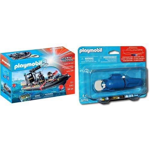 Playmobil 9362 - SEK-Schlauchboot Spiel &  5159 - Unterwassermotor