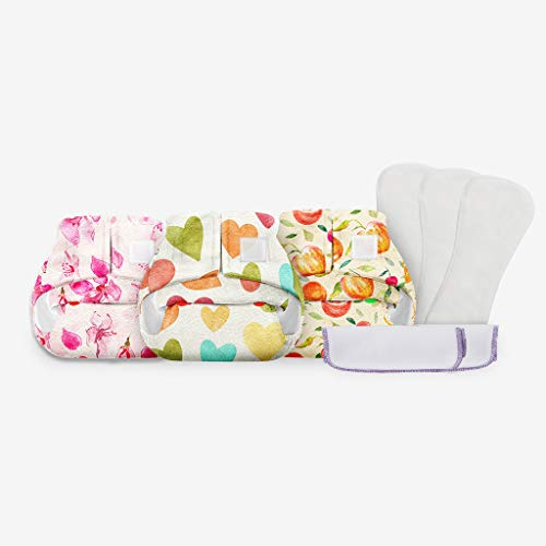 Superbottoms Newborn Diaper Value Diapers with 2 Fleece Liners Free, New Born (Pack of 3)