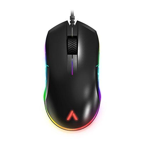 Azio Atom - RGB Ambidextrous Lightweight FPS Gaming Mouse - Optical PMW3360 Sensor, Black (GM-ATOM-01)