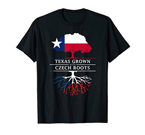 Texas Grown with Czech Roots - Czech Republic T-Shirt