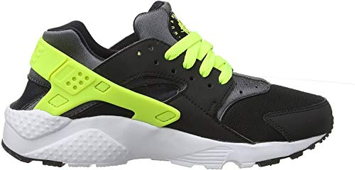 Nike Huarache Run GS, Chaussures de Sport Mixte Enfant, Noir (Black 654275-017), 38.5 EU