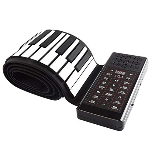 Affordable Pianos Musical Instruments 88-Key Hand Roll MIDI Folding Portable Thick Professional Keyb...