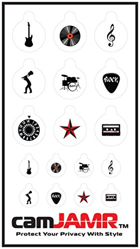Webcam Cover/Stickers for Online Privacy. Fits Laptop, Tablet, Cell Phone, Smart Tv, Xbox and More! camJAMR Rocker Pack (Includes 17 Webcam Covers)