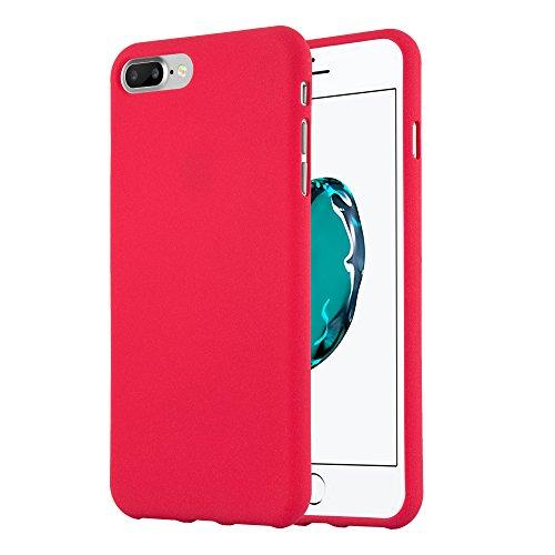 Cadorabo Custodia per Apple iPhone 8 PLUS / 7 PLUS / 7S PLUS in FROST ROSSO - Morbida Cover Protettiva Sottile di Silicone TPU con Bordo Protezione - Ultra Slim Case Antiurto Gel Back Bumper Guscio