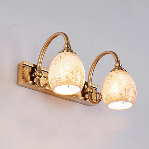 Européenne LED salle de bain de lumière miroir miroir armoire de toilette armoire rétro éclairage de maquillage minimaliste mur lampes américaine (cote d'efficacité énergétique A +) ( taille : Deux )