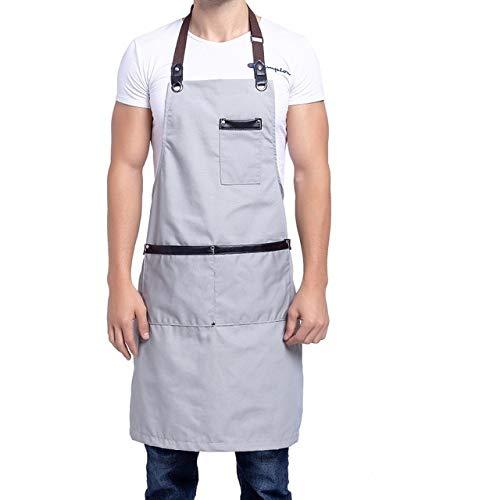 BRTTHYE koken canvas keukenschort voor vrouwen mannen Chef Cafe Shop BBQ schorten bakken restaurant schort slabbetjes zwart bruin