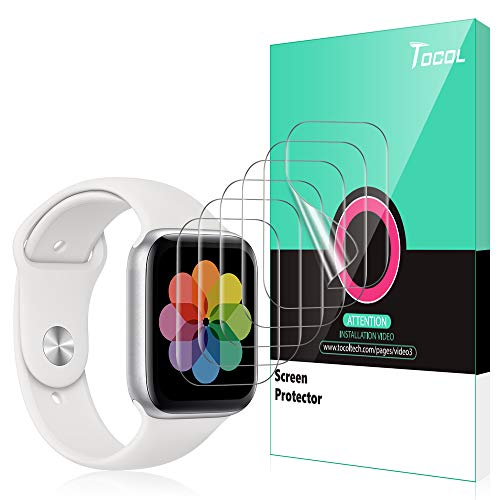 TOCOL [6 Pack] for Apple Watch Screen Protector 42mm Series 3 2 1, Anti-Scratch Max Coverage [Touch Sensitive] HD Clarity iWatch Flexible TPU Film