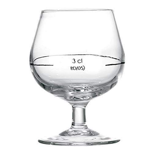 Arcoroc, cognac-glazen, 15 cl, merk 3 cl, 12 stuks
