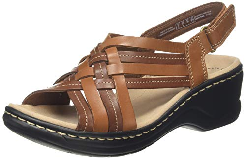 Clarks Lexi Carmen, Sandalias de Talón Abierto para Mujer, Marrón (Tan Leather Tan Leather), 41 EU