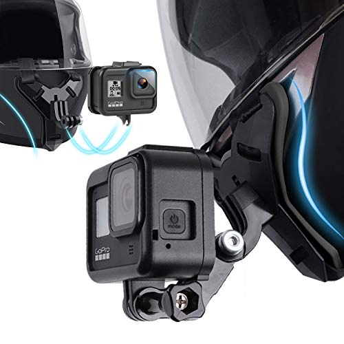 Bicycle Motorcycle Helmet Chin Strap Mount Compatible with GoPro Action Camera Hero 8/7/6/5/4/(Black) and Most of Other Action Cameras for Vlog/POV Shoot Accessory