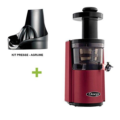 Pack Promo Omega VSJ843 Rouge + presse agrume - Extracteur De Jus Vertical