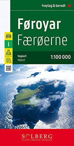 Färöer - Føroyar, Straßenkarte 1:100.000 (freytag & berndt Auto + Freizeitkarten)