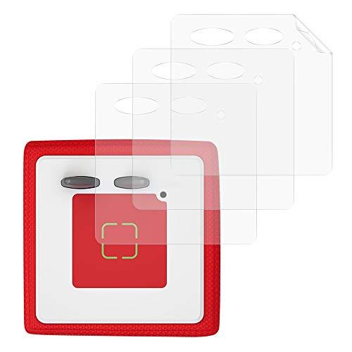 kwmobile 3x Aufkleber Folien kompatibel mit Toniebox - Sticker Schutzfolien Set selbstklebend - Transparent