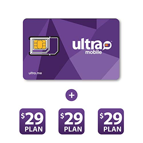 Ultra Mobile $29 Prepaid Plan for 3 Months with Triple Punch SIM Card