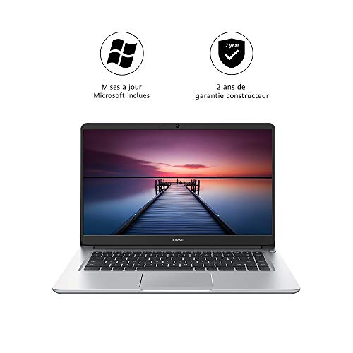 HUAWEI MateBook D 15.6' PC Portable 15.6 Pouces (Core i5, RAM 8Go, SSD 256Go, Windows 10 Home) Argent