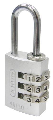 日本ロックサービス ABUS可変式南京錠145 20mm シルバー