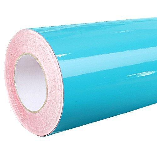 Rapid Teck® 4,75€/m² Glanz Folie - 066 Tuerkis Blau - Klebefolie - 5m x 63cm - Folie Selbstklebend - Plotterfolie - Auch als Moebelfolie