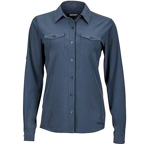 Marmot Wm's Annika Long Sleeve T-Shirt Manche Longue Femme Dark Steel FR : XS (Taille Fabricant : XS)