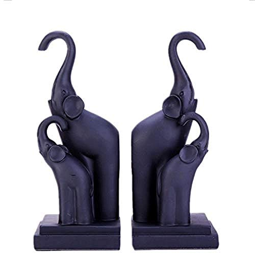 LJXLXY Decorations Art Craft Sculptuur hars olifant boek stand TV kast woonkamer studie