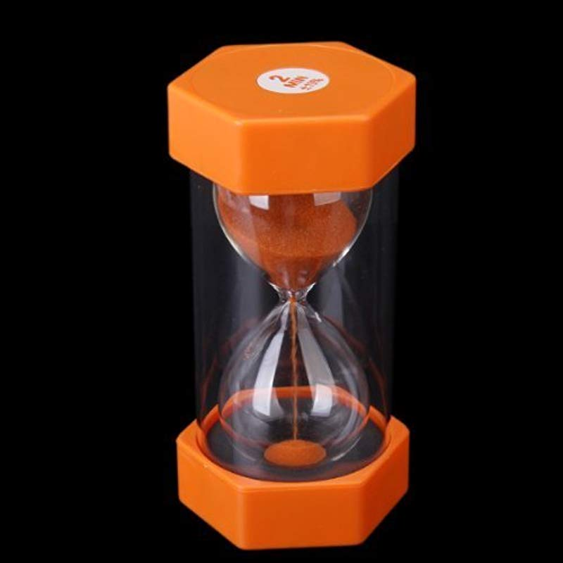 Anndeeson 2 Minutes Security Hourglass Sand Timer Orange Sand Sandglass