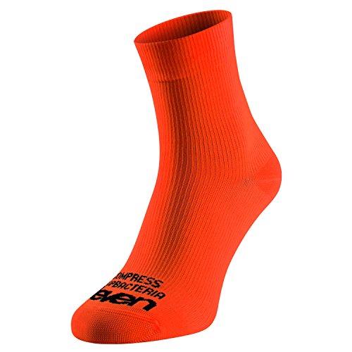 eleven Kompressions Socken für Laufen, Radfahren, Wandern, Fitness, Crossfit & Flight Travel (Herren und Damen), Korallenrot
