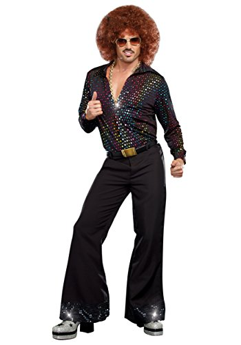 Adult Disco Dude Shirt Costume Small Black - http://coolthings.us