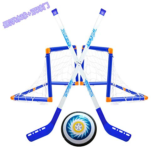 Hover-Fußball-Kind-Spielwaren mit 2 Toren, LED Elektrischen Hockey LED Suspension Hockey Air Soccer Set mit Pumpe und 2 Tore für Indoor, Sport Ball-Spiel