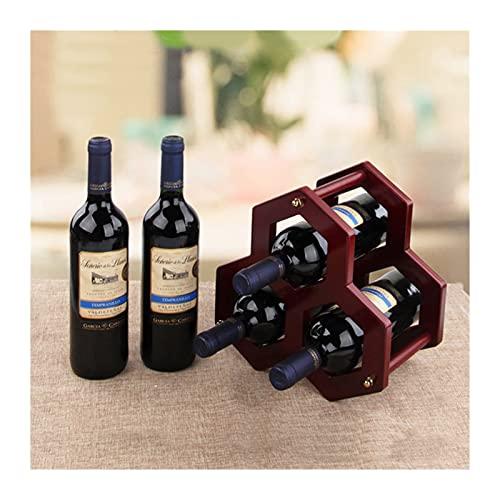 JQDMBH Botellero de Madera,Botellero Estante de Vino de Madera Titulares de vinos Cocina ensamblada Soporte Soporte Organizador Barra de Almacenamiento Barra de Vino Botella de Vino Botella de Vino.