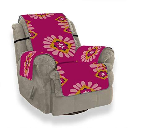 JEOLVP Marokko Fliesen Traditionelle Marrakesch Afrika Verzierten Stuhl Sofa Schonbezug Sofakissen Sitz Schonbezug Für Ohrensessel Möbel Protector Für Haustiere, Kinder, Katzen, Sofa