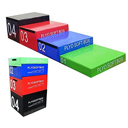 Ejercicio de Espuma Caja de Salto pliométrica Suave Plataforma de Aptitud para el hogar Gimnasio Fitness y Entrenamiento, Entrenamiento y acondicionamiento. (Size : 4 in 1)