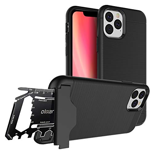 Olixar Multi Tool Utility Case for Apple iPhone 11 Pro Max, with 26 in 1 Survival Multi Tool - Protective Armour Cover - Credit Card Slot & Built in Stand - X-Ranger - Black