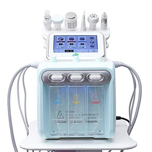XWZ Machine De Dermabrasion De Peau De Jet D'oxygène De 6 en 1, Machine De Visage Hydra-Dermabrasion Hydro-Dermabrasion, Appareil De Pelage À Bulles D'oxygène D'hydrogène