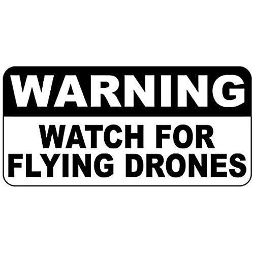 HNNT Metalen bord 8x12 inches Waarschuwingshorloge voor Vliegende Drones Retro Vintage Stijl Road Sign