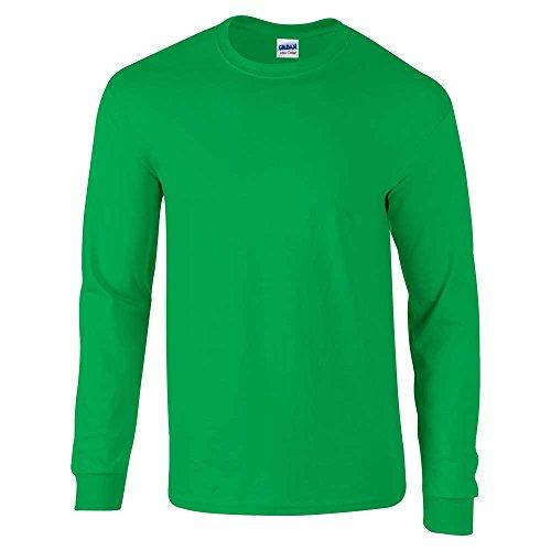 Gildan Camiseta de manga larga para hombre de algodón ultra suave - Verde -