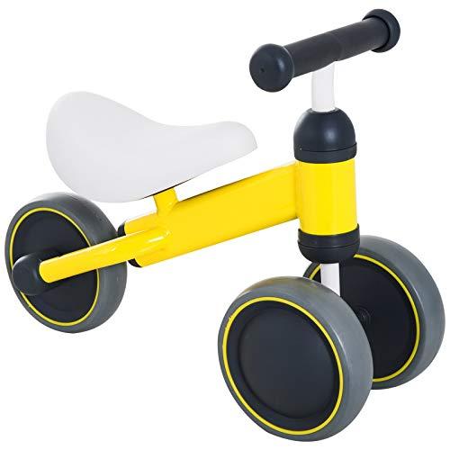 Homcom Dreirad für Babys, Kleinkinder, 3 Räder, zum Aufsitzen